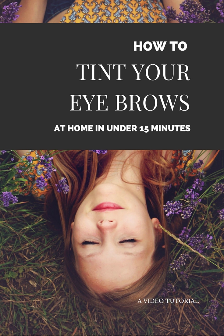 How To Use An Eyebrow Tinting Kit Video Tutorial